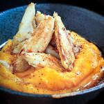 Sauteed Crab Over Squash Puree