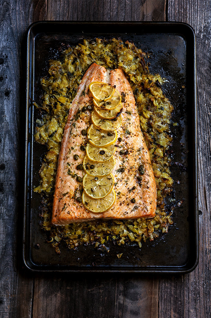 Baked Salmon With Creamy Leeks Is A Classic And All Time Favorite Recipe Simple
