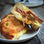 Triple cheese stuffed French toast