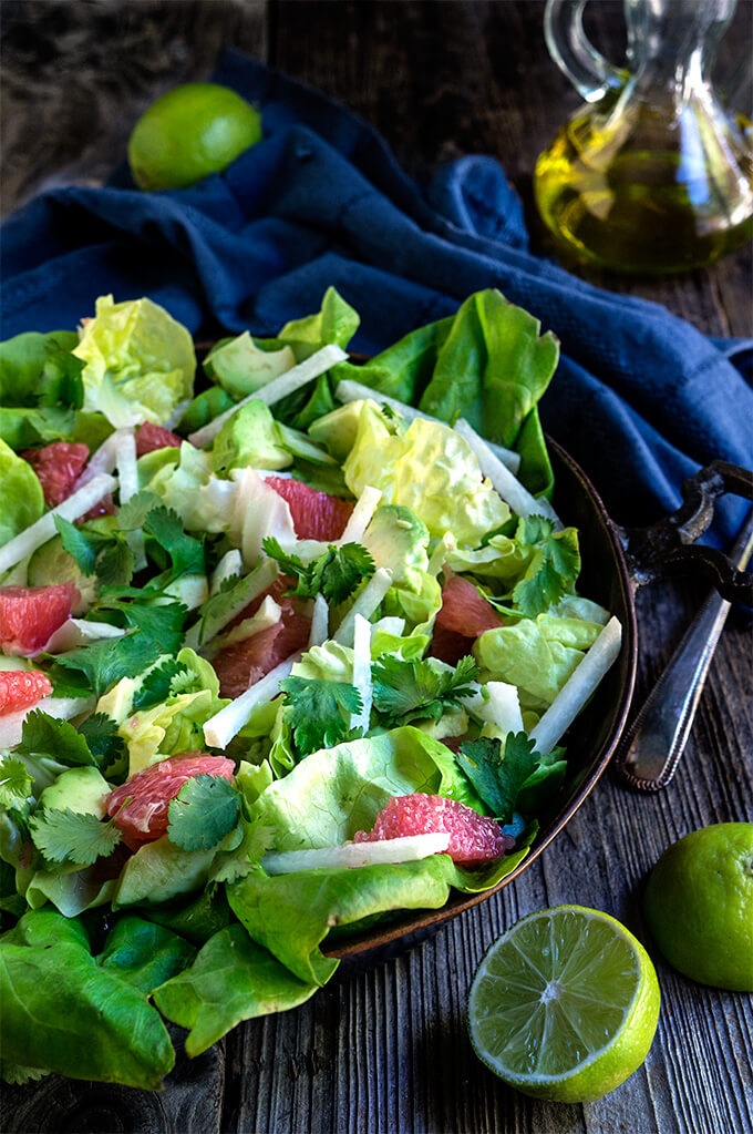 Avocado grapefruit jicama salad