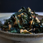 Kale salad with toasted coconut and sesame oil