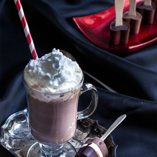 Viennese hot chocolate + melting hearts hot chocolate spoons