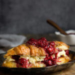 Croissant French toast with lemon mascarpone cheese {two ways}
