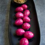 Pickled quail eggs {horseradish mayo + furikake}