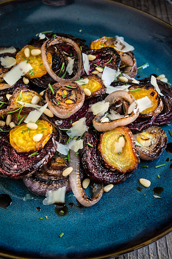 Roasted beets and charred onion salad - sweet and smoky, earthy and ...