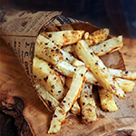Celeriac fries - addictive, these are a great guilt-free snack that can perfectly satisfy your French fries cravings but for a fraction of the calories.