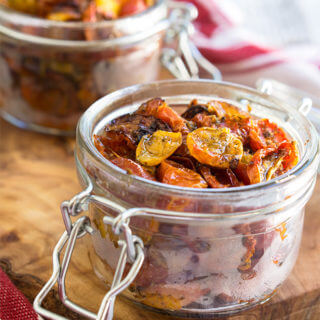 Slow-roasted tomatoes {garlic + herbs}