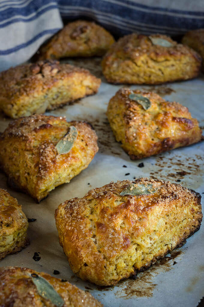 pumpkin sage scones