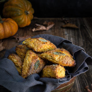 Pumpkin sage scones {walnuts + smoked cheese}