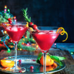 Cranberry rosemary citrus martini - bring on the holiday spirit by shaking up these bright and cheerful, rosemary infused, citrus martinis. | www.viktoriastable.com