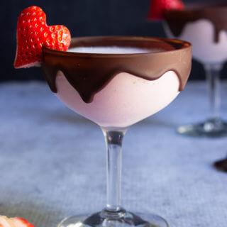 Chocolate strawberry martini