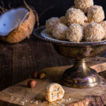 White chocolate coconut truffles {homemade Raffaellos}