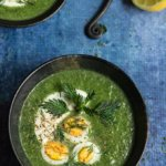 Nettle and green garlic soup - this creamy soup tastes like the spring, with flavors of mild garlic, aromatic dill, and fresh lemon, and is packed with cleansing nutrients and minerals. | www.viktoriastable.com
