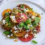 Tomato feta panzanella salad | www.viktoriastable.com