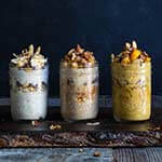 3 overnight pie oats - creamy and indulgent, these pie-inspired overnight oats taste like the season, and feel like a treat | www.viktoriastable.com