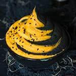 Black bean and sweet potato hummus dip - black and orange, sweet and spicy, Halloween-inspired, hummus dip. | www.viktoriastable.com