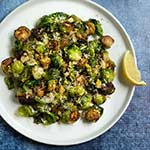 Pan-roasted brussels sprouts with lemon, garlic and cumin. | www.viktoriastable.com