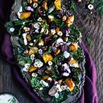 Roasted beet and kale salad with horseradish crema | www.viktoriastable.com