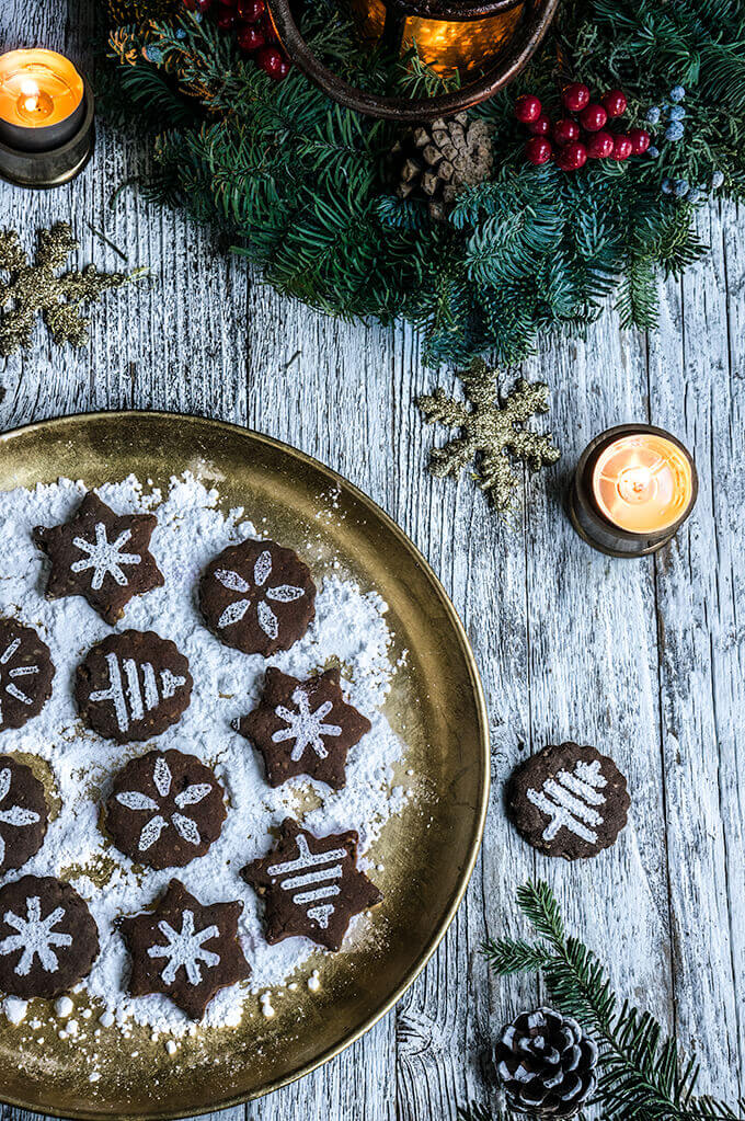 Shortbread Cookies Christmas.Mexican Chocolate Shortbread Cookies