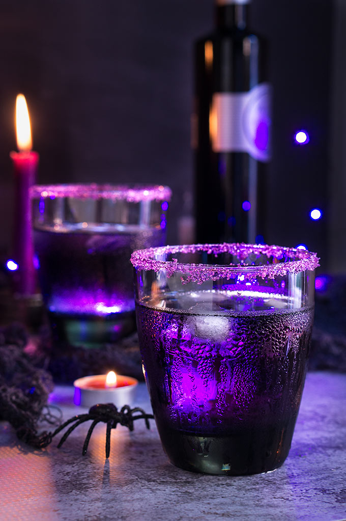 Purple Moscow mule - Viktoria's Table